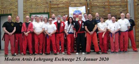 Teilnehmer Modern Arnis Lehrgang Eschwege 2020